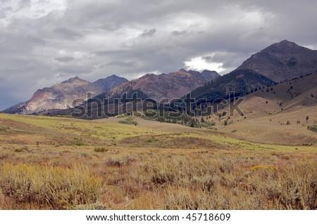 Boulder Mountains, Idaho - stock photo