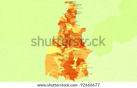 Boundaries of Tocantins State - mideast Brazil - stock photo
