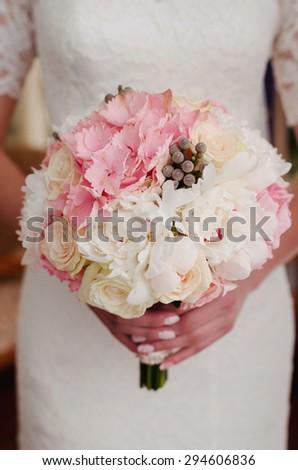 Bouquet bride - stock photo