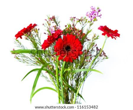 bouquet flowers - stock photo