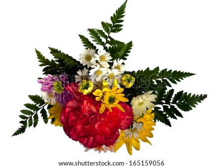 bouquet of colorful chrysanthemum flower - stock photo