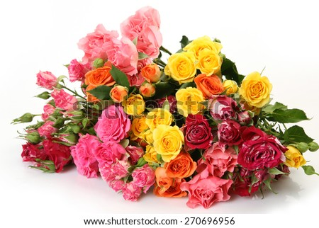 Bouquet of fine roses - stock photo