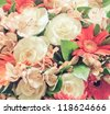 bouquet of flowers close-up - stock photo