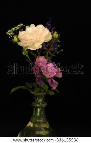 bouquet of flowers with rose