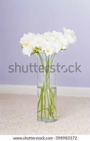 Bouquet of white flowers. Spring.