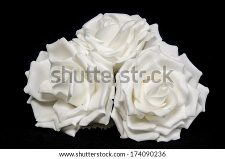 Bouquet of white roses. isolate - stock photo