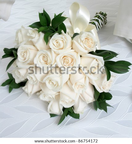 Bouquet with a variety of rose - stock photo