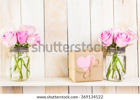 Pink Flowers Mason Jar Stock Images Royalty Free Images