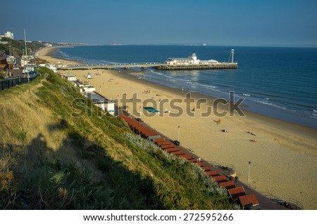 Bournemouth is a large coastal resort town on the south coast of England