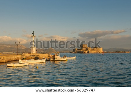 bourtzi castle, nafplion, greece - stock photo