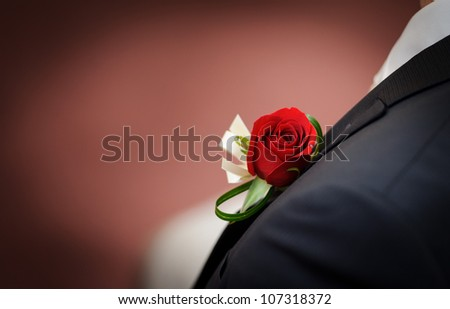 Boutonniere - stock photo