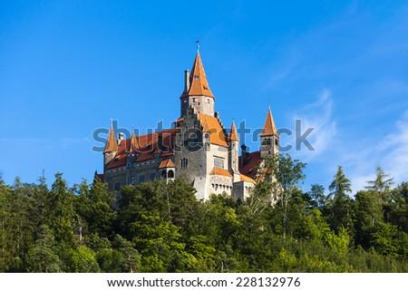 Bouzov Castle, Czech Republic - stock photo