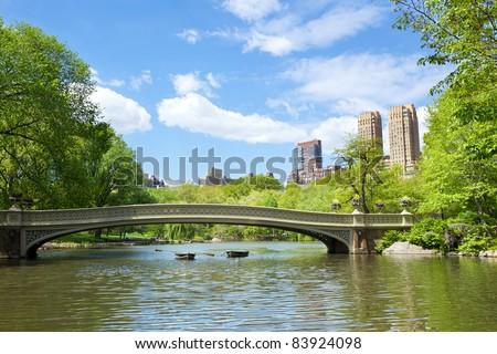 Bow Bridge at Central Park, New York - stock photo