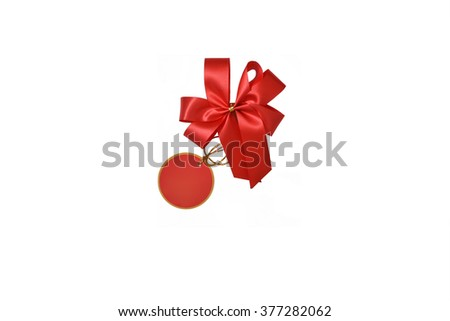 Bow for Gift made from ribbon - stock photo