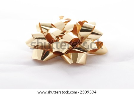 bow for presents - stock photo