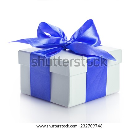 bow gift box Isolated on white background