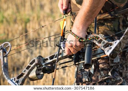 Bow hunter - stock photo