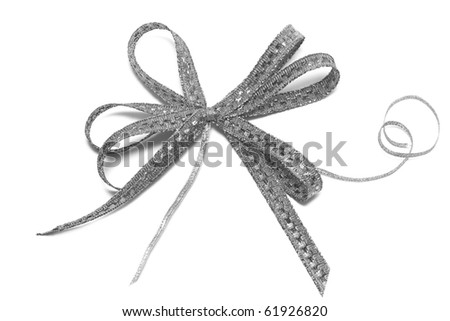 bow isolated on white background - stock photo