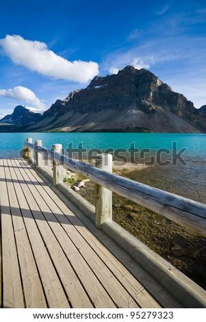 Bow Lake in Banff National Park, Alberta, Canada. - stock photo
