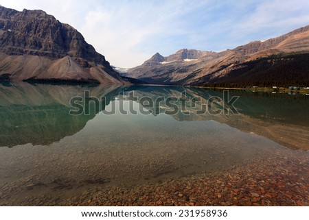 Bow Lake in Canada