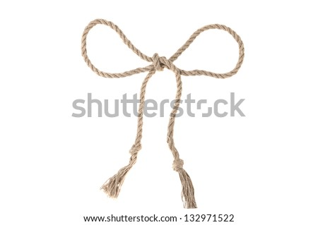 bow of rope isolated on a white background