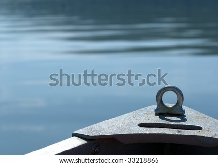 bow of the row boat - stock photo