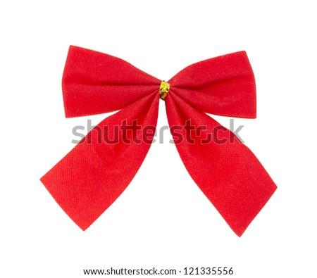 bow ribbon isolated on white background - stock photo