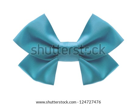 bow ribbon isolated on white background