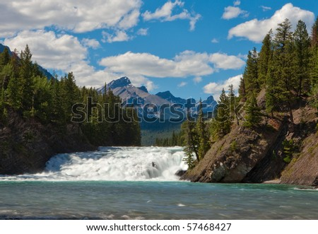 Bow River/Bow Fall, Banff National Park, Alberta, Canada - stock photo