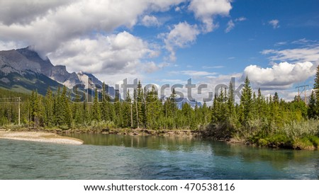 Bow River - Mount Rundle - Banff National Park - Alberta - Canada