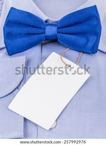 bow tie and shirt with label