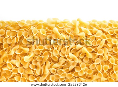 Bow Tie Pasta , isolated on white background  - stock photo