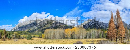 Bow Valley Parkway in Banff National Park, Alberta, Canada - stock photo
