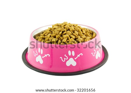 Bowl full of dog food