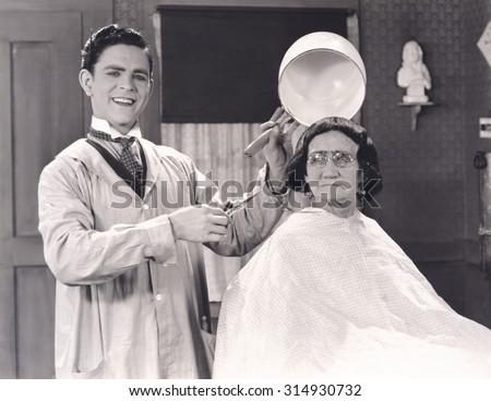 Bowl haircut - stock photo