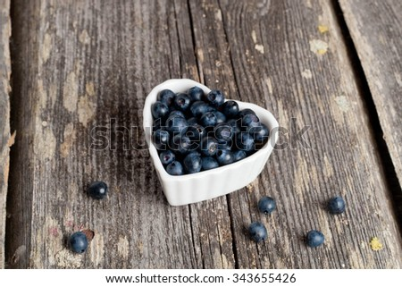 bowl of blueberries, horizontal, close up