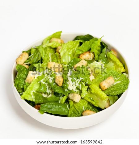 Bowl of Caesar Salad - stock photo