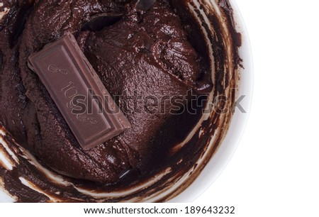 bowl of chocolate cream - stock photo