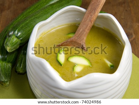 bowl of fresh zucchini - stock photo