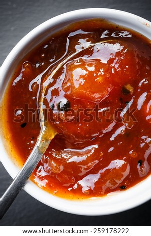 Bowl of Mango Chutney - stock photo