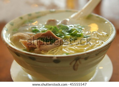 Bowl of noodles - stock photo