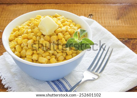 bowl of steamed sweet corn