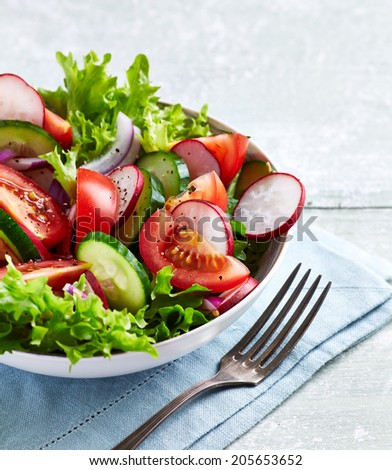 Bowl of Summer Salad  - stock photo