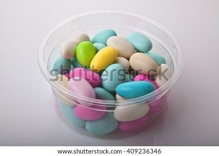 Bowl with colorful candies