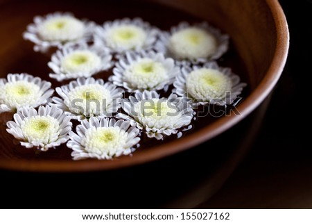 Bowl with flowers  - stock photo
