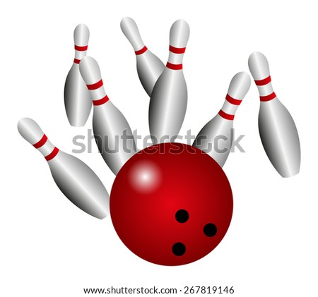 Bowling background - stock photo