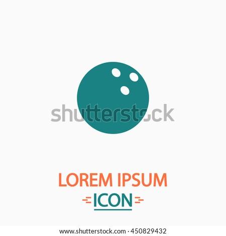 Bowling ball. Flat icon on white background. Simple illustration - stock photo
