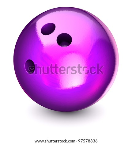 Bowling ball on a white background - stock photo
