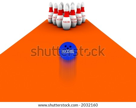 Bowling Business vol 2 - stock photo