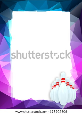 Bowling frame  - stock photo